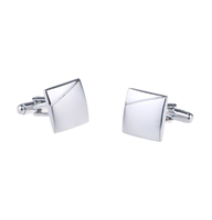 Matte and Shiny Corner Cufflinks
