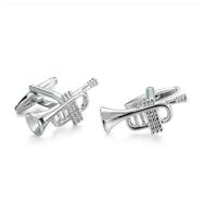 Trumpet Steel Cufflinks