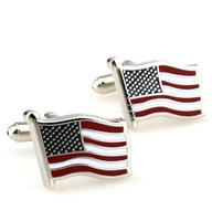 Wavy USA Flag Cufflinks