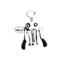 Cufflinks corkscrew for wine opener