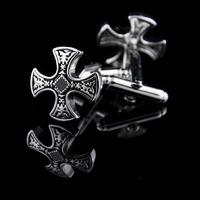 Decorated Cross Cufflinks