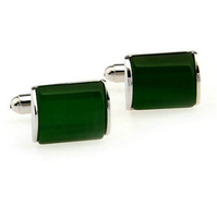 Elegant emerald cufflinks