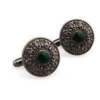 Vintage Green Eye Cufflinks