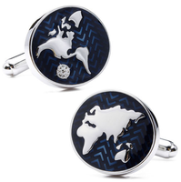 Cufflinks world map