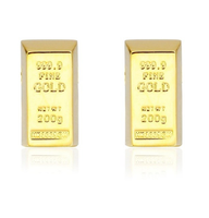 Cufflinks golden brick