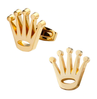 Cufflinks golden crown