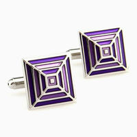 Purple Rainbow Cufflinks
