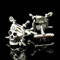 Pirate Skull with Swords Cufflinks