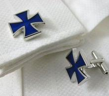 Blue War Cross Cufflinks