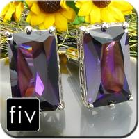 Luxury Faceted Purple Crystal Cufflinks