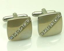 Crystal Belt Steel Cufflinks