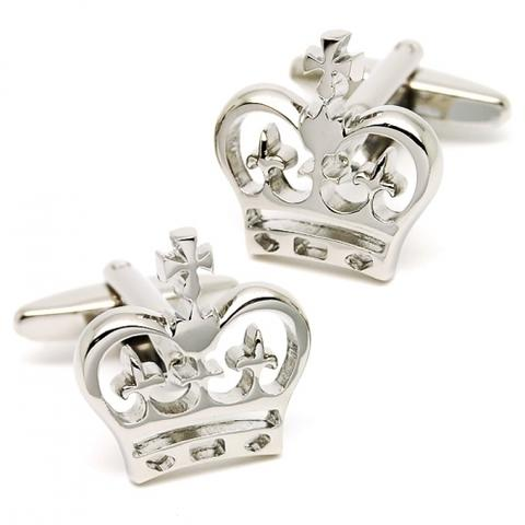 Cool Royal Crown Design Cufflinks - 1