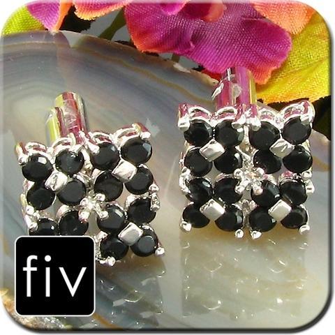 Luxury Four Black Flowers Cufflinks