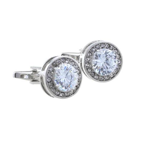 Luxury Bright Crystal Cufflinks - 1