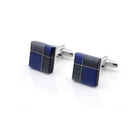 Cufflinks blue abstract