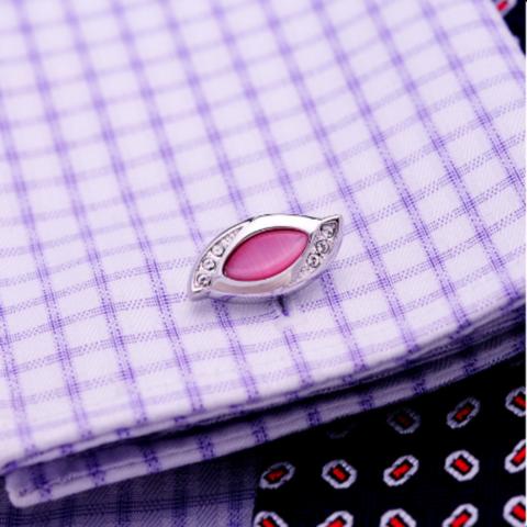 Vintage pink cufflinks - 1