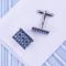 Blue mosaic cufflinks - 1/3