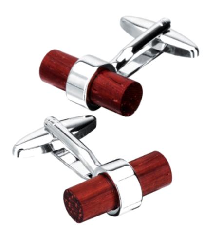 Wooden cylinder cufflinks - 1