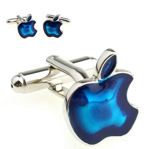 Blue Apple Sign Cufflinks - 1