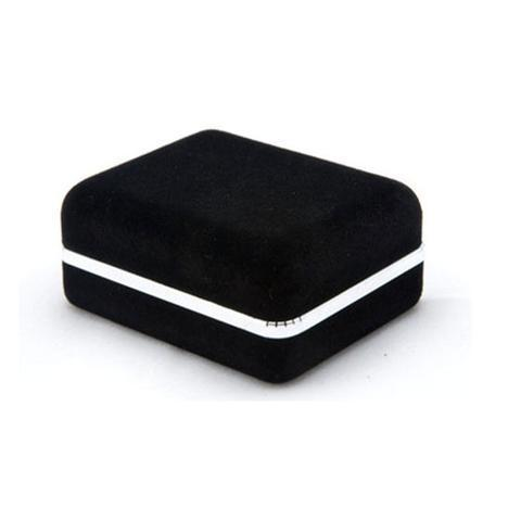 Black Suede Cufflink Box - 1