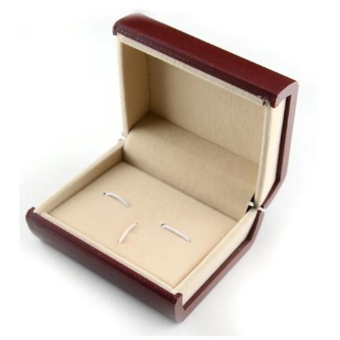Luxury Single Cufflink Box red - 1