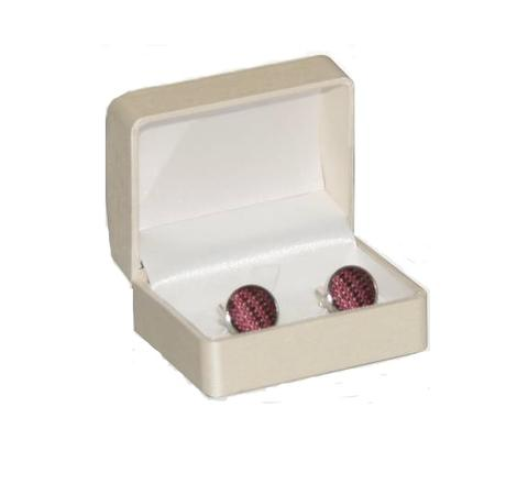 Beige Single Cufflink Box - 1