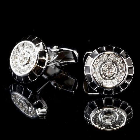 Decorated Circle Cufflinks - 1