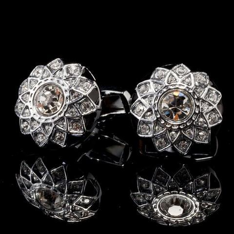 Luxury Crystal Star Cufflinks