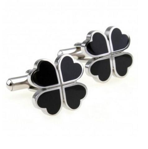 Black Cloverleaf Cufflinks - 1