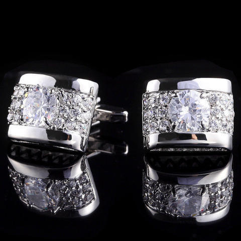 Luxury Zircon Cufflinks - 1