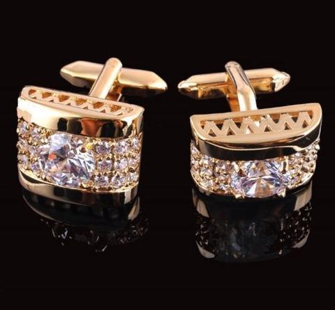Luxury Crystal Element Cufflinks - 1