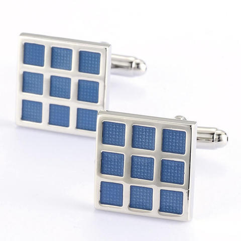 Blue Grid Cufflinks