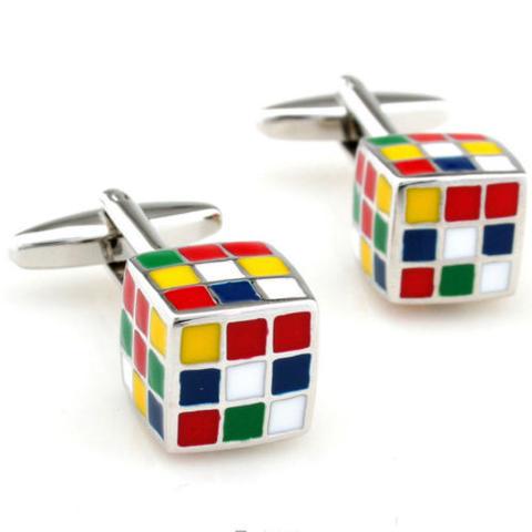 Rubik's Cube Cufflinks