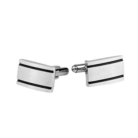 Personalised Engraved Rectangle Two Lines Cufflinks - 1