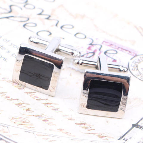 Stylish Black Cufflinks - 1