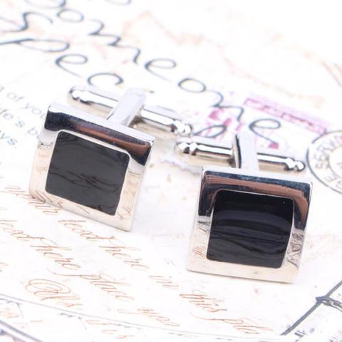 Stylish Black Cufflinks - 1