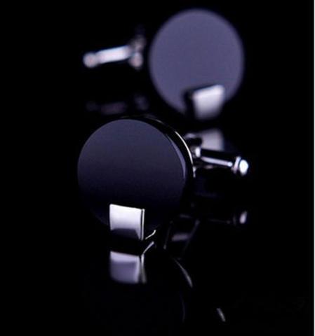 Matte Black Cufflinks - 1