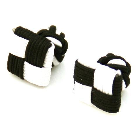 Black White Square Knot Cufflinks