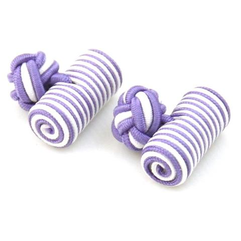 Violet White Barrel Knot Cufflinks