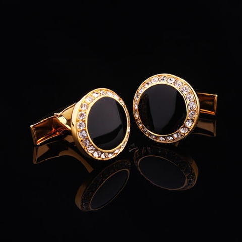 Luxury Black Eye Cufflinks - 1