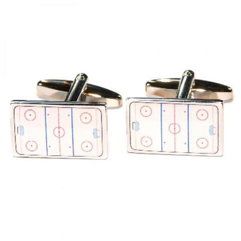 Ice Hockey Rink Cufflinks