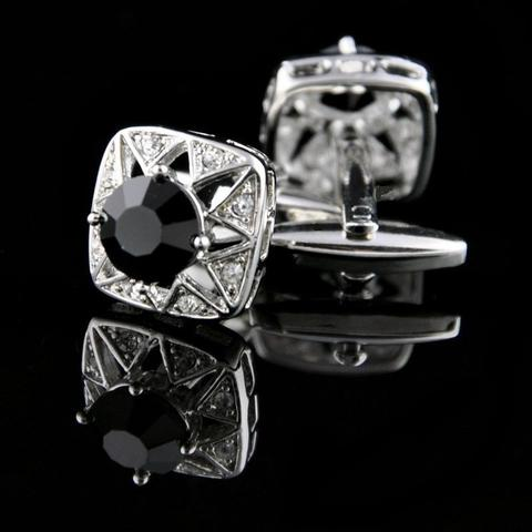 Faceted Black Star Cufflinks