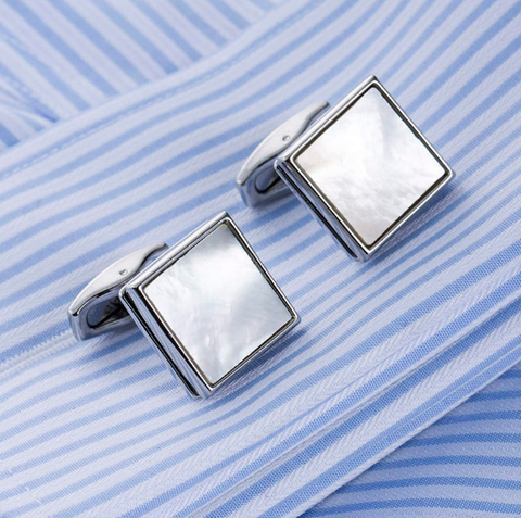 Cufflinks Pearl Squares - 1