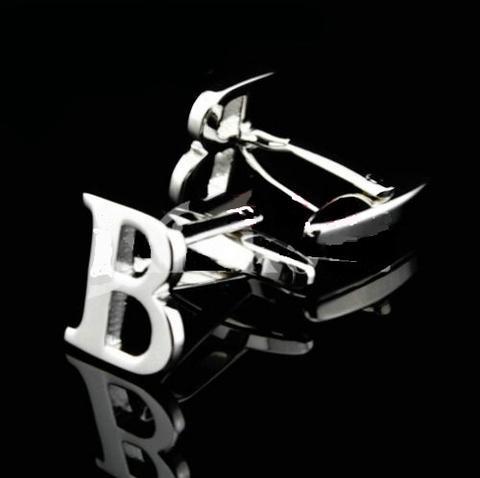 Initial B Letter Cufflinks