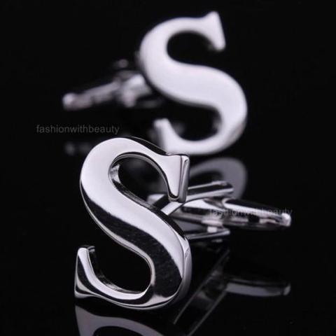 Initial S Letter Cufflinks