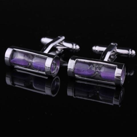 Purple Hourglass Cufflinks