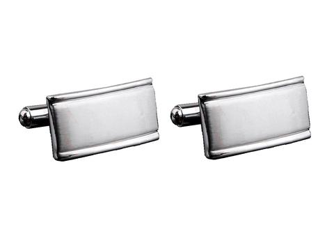 Matted Silver Metal Cufflinks