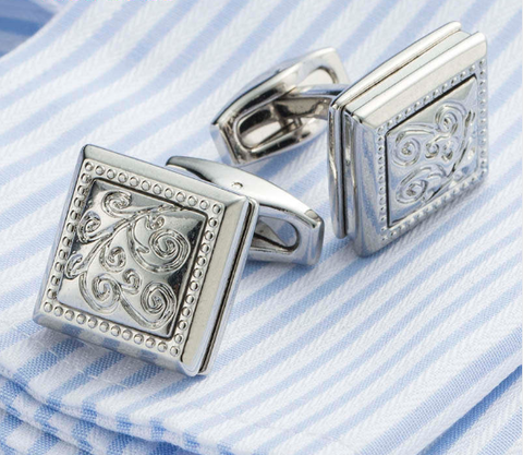 Cufflinks with Art Nouveau ornament - 1