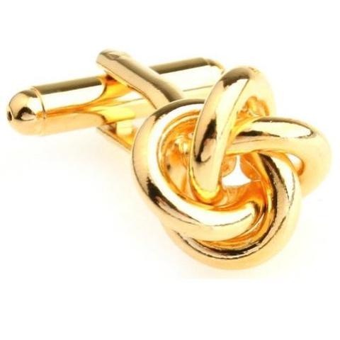 Gold Metal Knot Cufflinks - 1