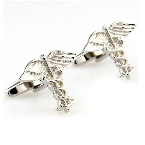 Rod of Asclepius Cufflinks - 1